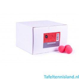 Heemskerk Tafeltennis ballen Fun 100 stuks Rood