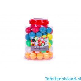 Heemskerk Tafeltennis ballen Fun 60 stuks Kleuren Mix