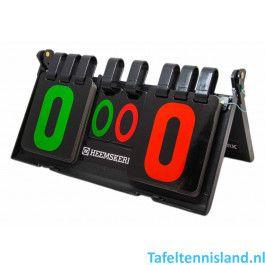 Heemskerk tafeltennis scorebord