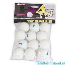 Buffalo Hobby Outdoor tafeltennisballen 12st.