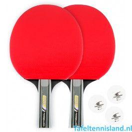 Cornilleau Tafeltennis batje Sport Duo pack Rood