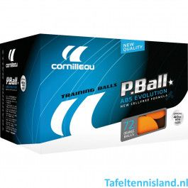 Cornilleau tafeltennisballen P-ball oranje 72 st.