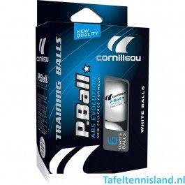 Cornilleau tafeltennisballen ABS Evolution 6 stuks
