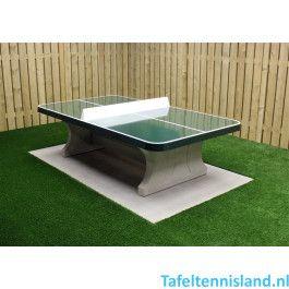 HeBlad Tafeltennis tafel Beton ronde hoeken Groen