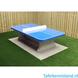 HeBlad Tafeltennistafel Beton ronde hoeken Blauw