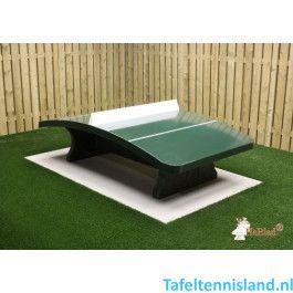 HeBlad Tafeltennis tafel Beton ronde hoeken naturel beton