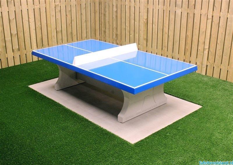 heblad tafeltennis tafel beton rechte hoeken blauwTafeltennis #14