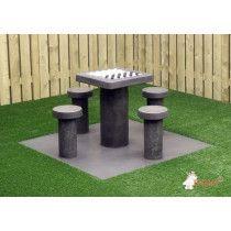 HeBlad Tafeltennis tafel Beton rechte hoeken naturel beton