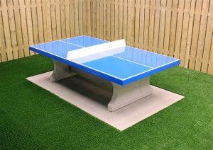 HeBlad Tafeltennis tafel Beton rechte hoeken Blauw