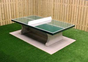 HeBlad Tafeltennis tafel Beton rechte hoeken Groen
