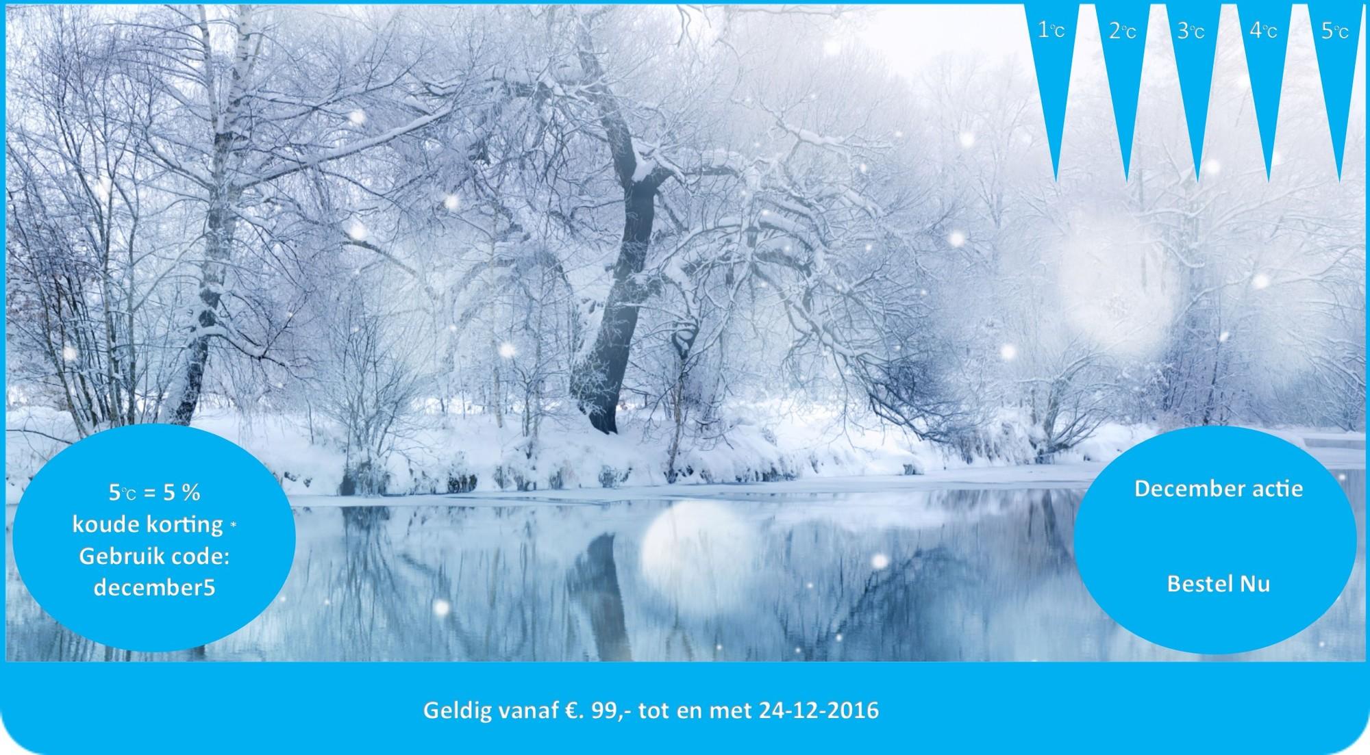 December actie kortingcode